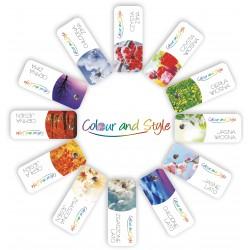Zestaw 12 wachlarzy kolorów